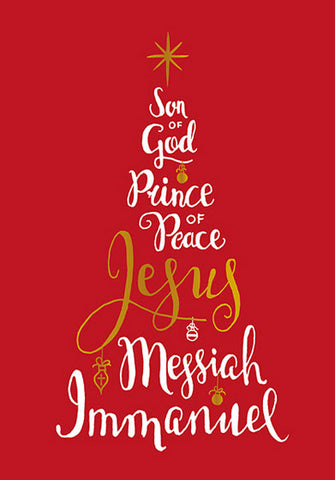 Compassion Charity Christmas Cards: Christmas Tree - Names of Jesus (10 Pack)