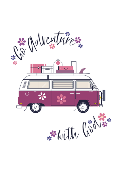 Go Adventure (Flowers)  - A6 Greeting Card