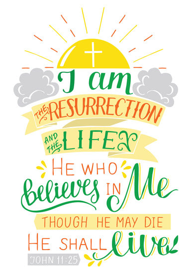 Easter Cards: I Am The Resurrection (5 Pack)