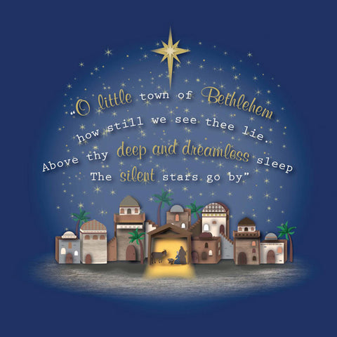 Christmas Card Box: O Little Town (10 Pack)