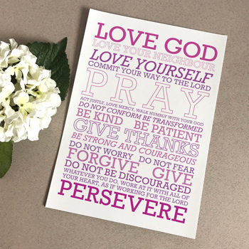 Love God (Purple Mix) - A5 Print