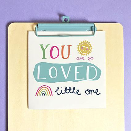 You Are So Loved New Baby Card & Envelope