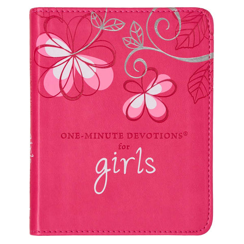One Minute Devotions for Girls Lux Leather