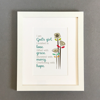 God's Girl - 7x5 Framed Print