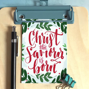 Christ The Saviour Is Born - Christmas Mini Card