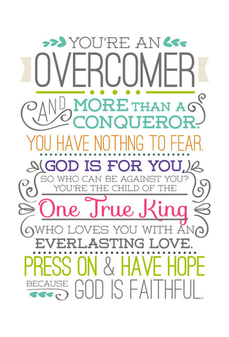 Overcomer - Mini Card