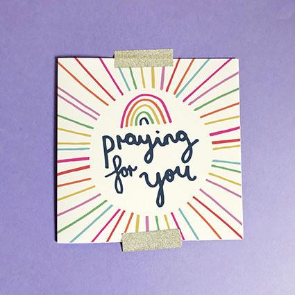 Praying For You Greeting Card & Envelope