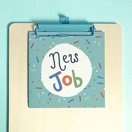 New Job Greeting Card & Envelope