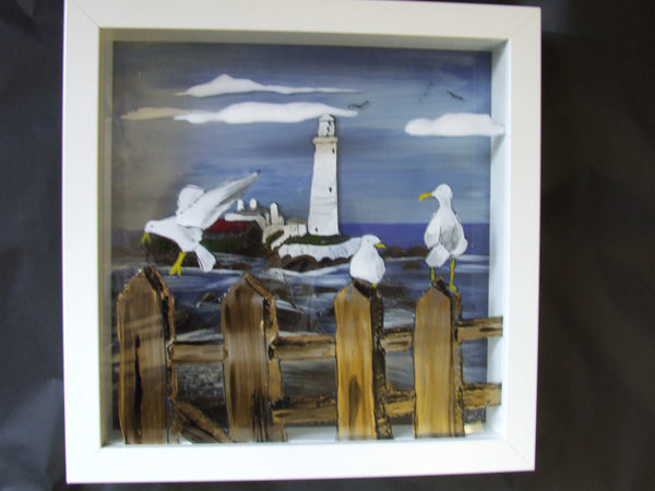 3d picture Whitley Bay Lighthouse