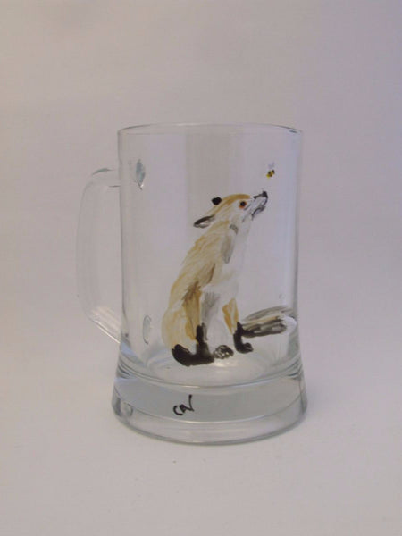 Fox and Bee pint tankard