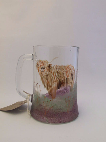 Highland Cow pint tankard
