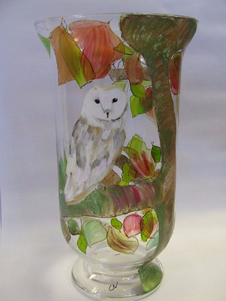 owl hurricane lamp
