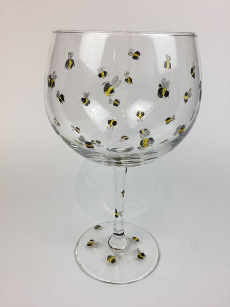 gin cocktail glass bees