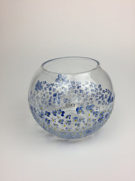 candle holder forget me nots