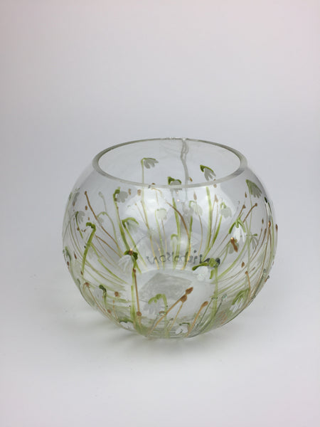 candle holder Snowdrops