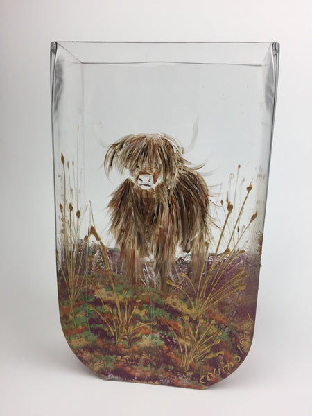 glass tank - highland cattle
