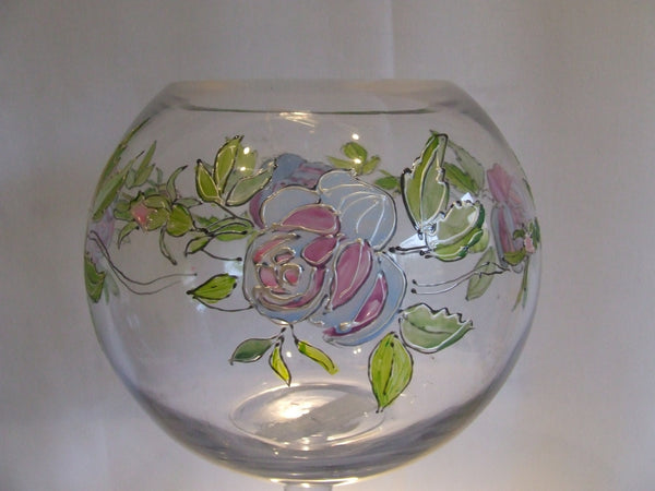 vintage rose candle holder