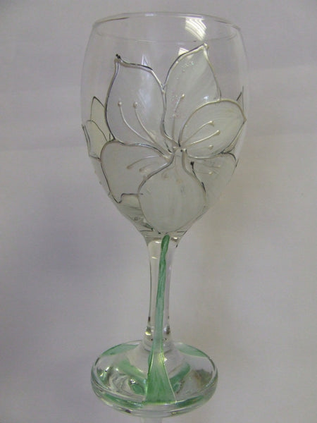 white lily glass
