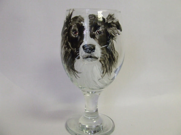 border collie glass
