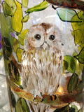 Barny - Barn owl hurricane lamp