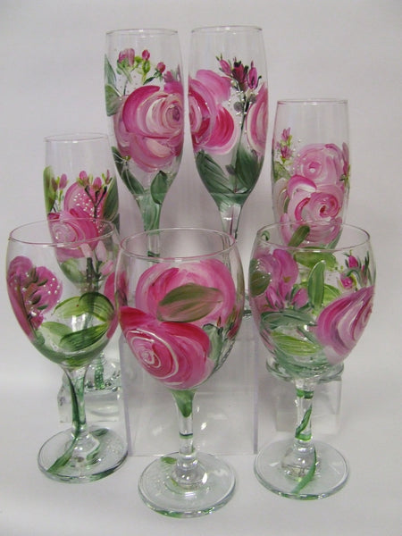 pink rose glasses