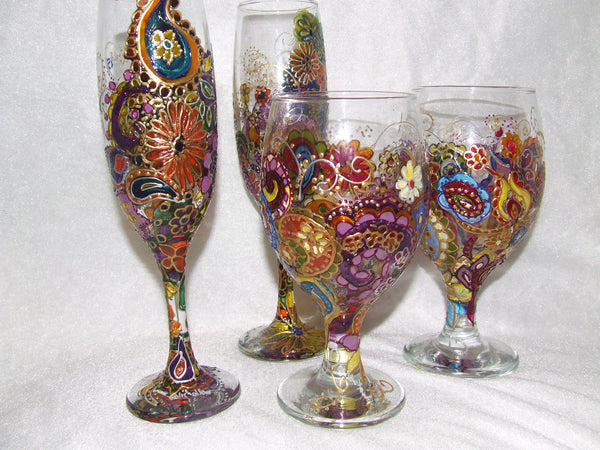 paisley style glasses