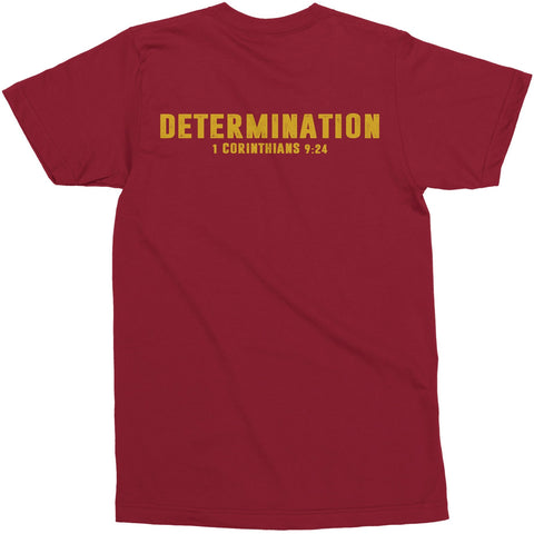 Men's Maroon/Gold LTG Determination Tee
