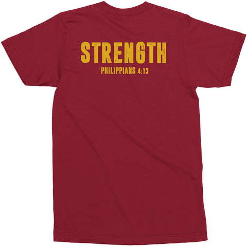Men's Maroon/Gold LTG Strength Tee