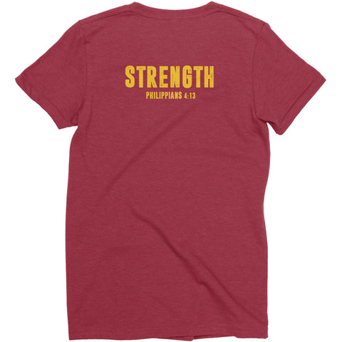 Women's Maroon/Gold LTG Strength Tee