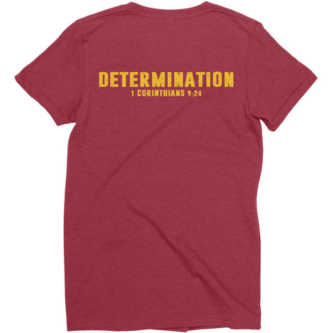 Women's Maroon/Gold LTG Determination Tee
