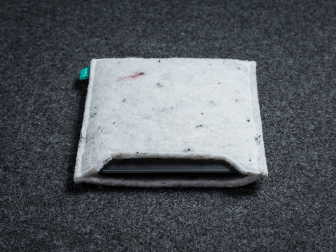 White Industrial felt handmade Kindle sleeve / Kobo sleeve - designed and handmade by Gopher