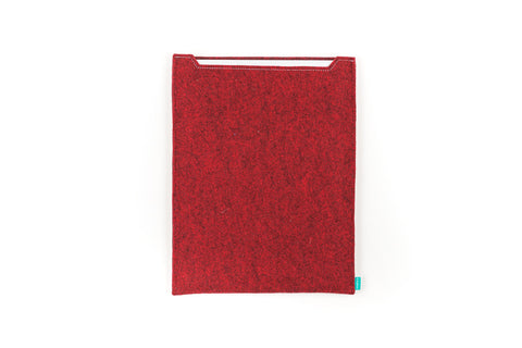 Red felt Wacom sleeve for Intuos, Cintiq, Bamboo graphic tablet - designed and handmade by Gopher