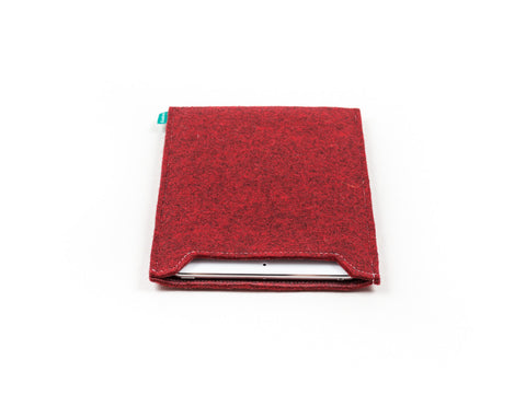 Simple red felt iPad sleeve for your iPad Air and iPad Mini - designed and handmade by Gopher