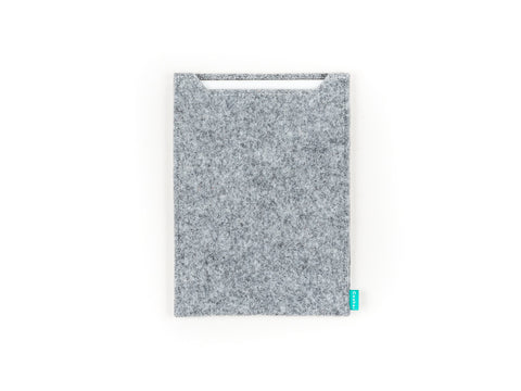 Light gray felt Wacom sleeve for Intuos, Cintiq, Bamboo graphic tablet - designed and handmade by Gopher
