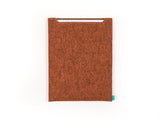 Orange felt Wacom sleeve for Intuos, Cintiq, Bamboo graphic tablet - designed and handmade by Gopher