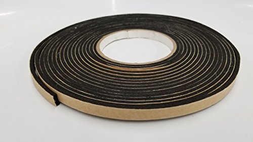 Foam Tape Neoprene Closed Cell Rubber with PSA - Peel and Stick Adhesive one Side. Weather Stripping, Insulation, Sponge, Gasket - Many Thicknesses and Lengths.