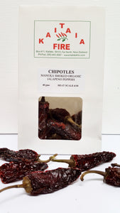 Dried Chipotles - Manuka smoked jalapeno peppers 40g