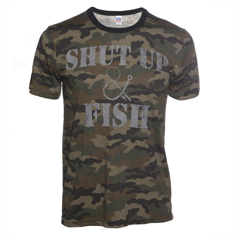 Shut Up & Fish Camo T-Shirt
