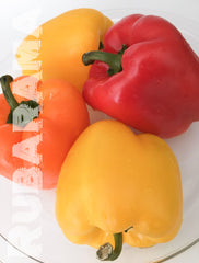 Fresh peppers for Rubarama's Savory Ricotta Stuffed Peppers