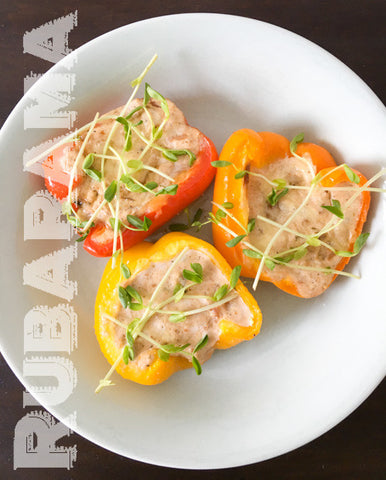 Rubarama's Sweet and Savory Ricotta Stuffed Peppers