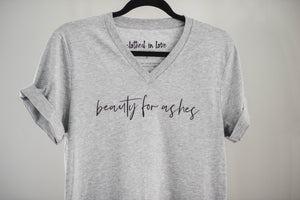 Beauty for Ashes V-Neck Tee