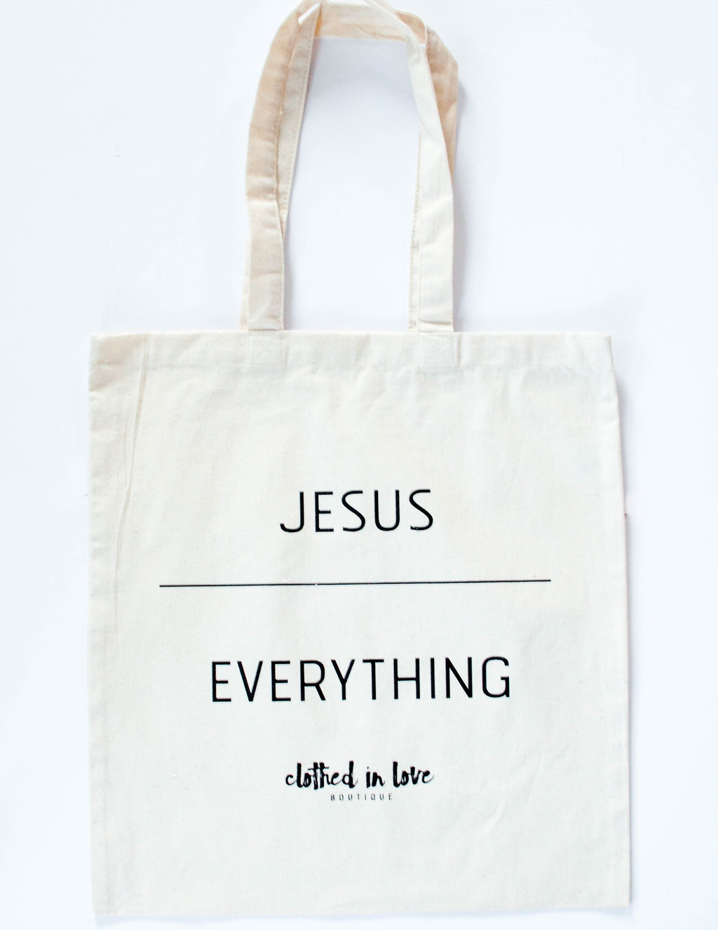 Jesus over Everything Tote Bag