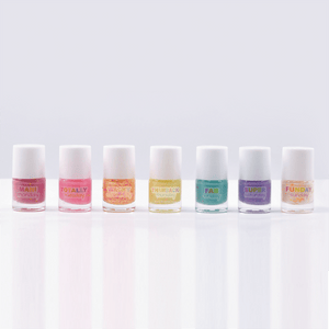 Days of the Week Confetti Nail Polish