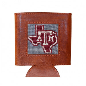 Texas A&M (State Logo) Needlepoint Can Cooler
