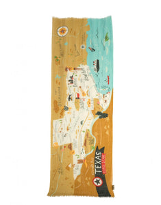Texas Map Scarf