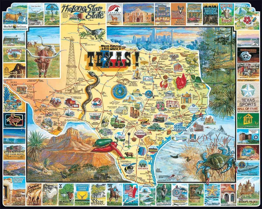 Best of Texas 1000 Piece Puzzle