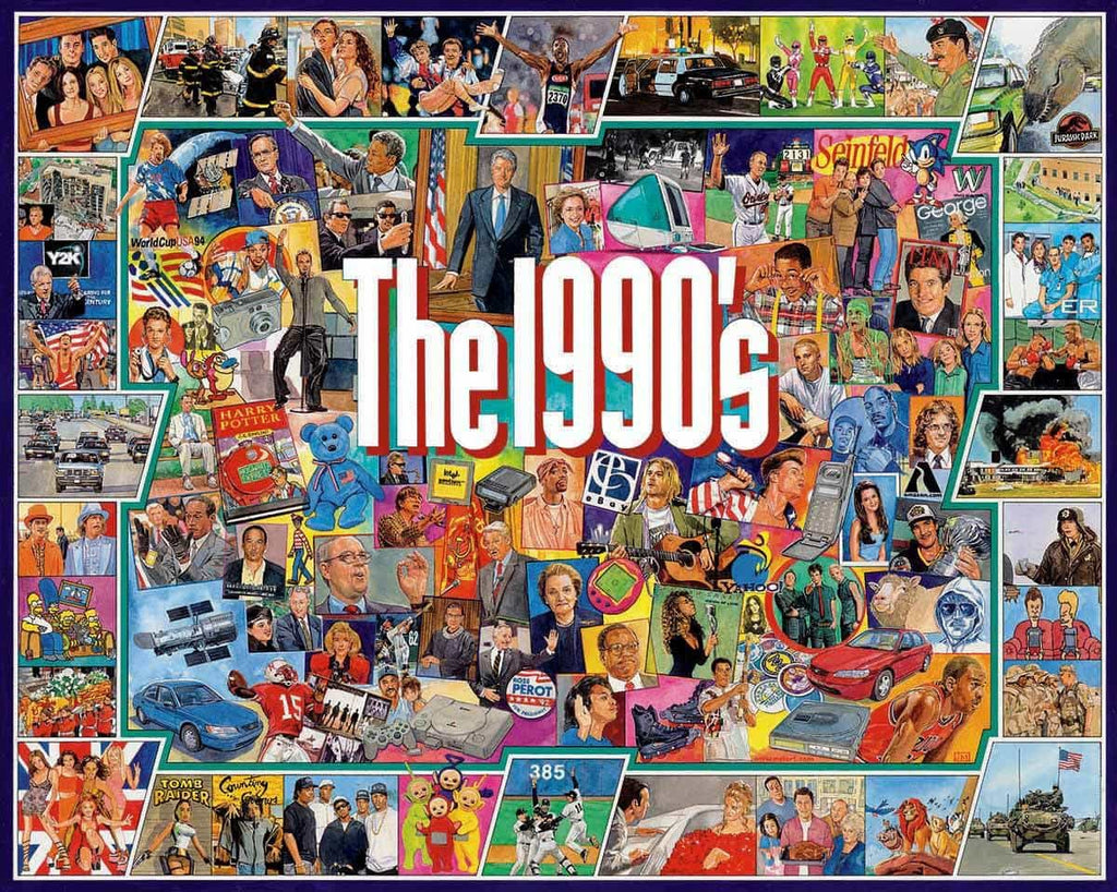 The Nineties 1000 Piece Jigsaw Puzzle