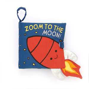 Zoom To The Moon Fabric Book