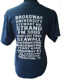 Navy Galveston Streets Shirt