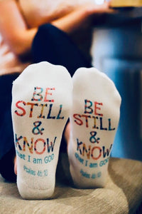 Be Still & Know Socks